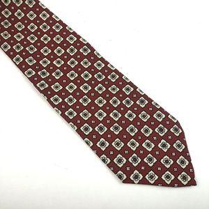 J. Crew Men's Red Silk Hand Made Neck Tie